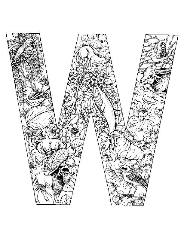 alphabet w coloring pages - photo#19