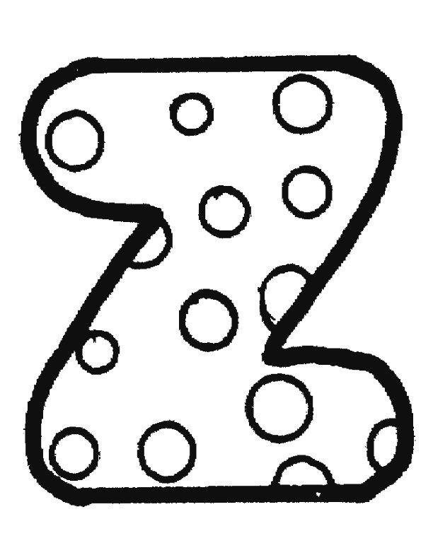 Kleurplaten alfabet stippen