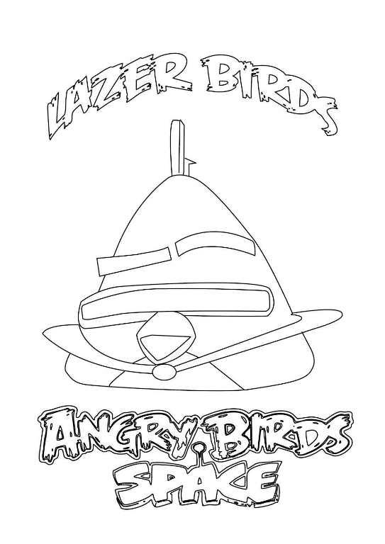 Kleurplaten Angry Birds Space.Kleurplaat Angry Birds Space Animaatjes Nl