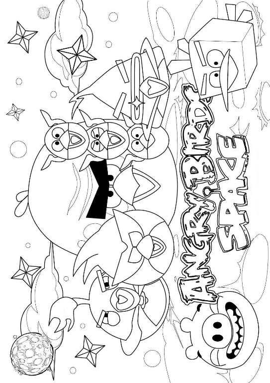 Kleurplaten Van Angry Birds Space.Angry Birds Space Kleurplaten Animaatjes Nl
