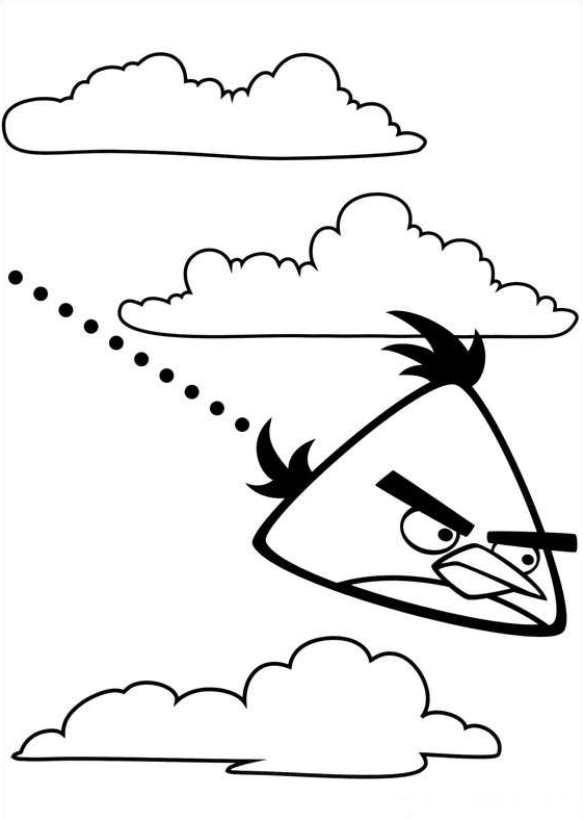 Angry birds kleurplaten