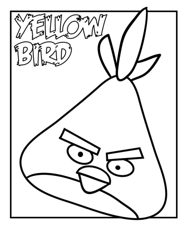 Kleurplaten angry birds