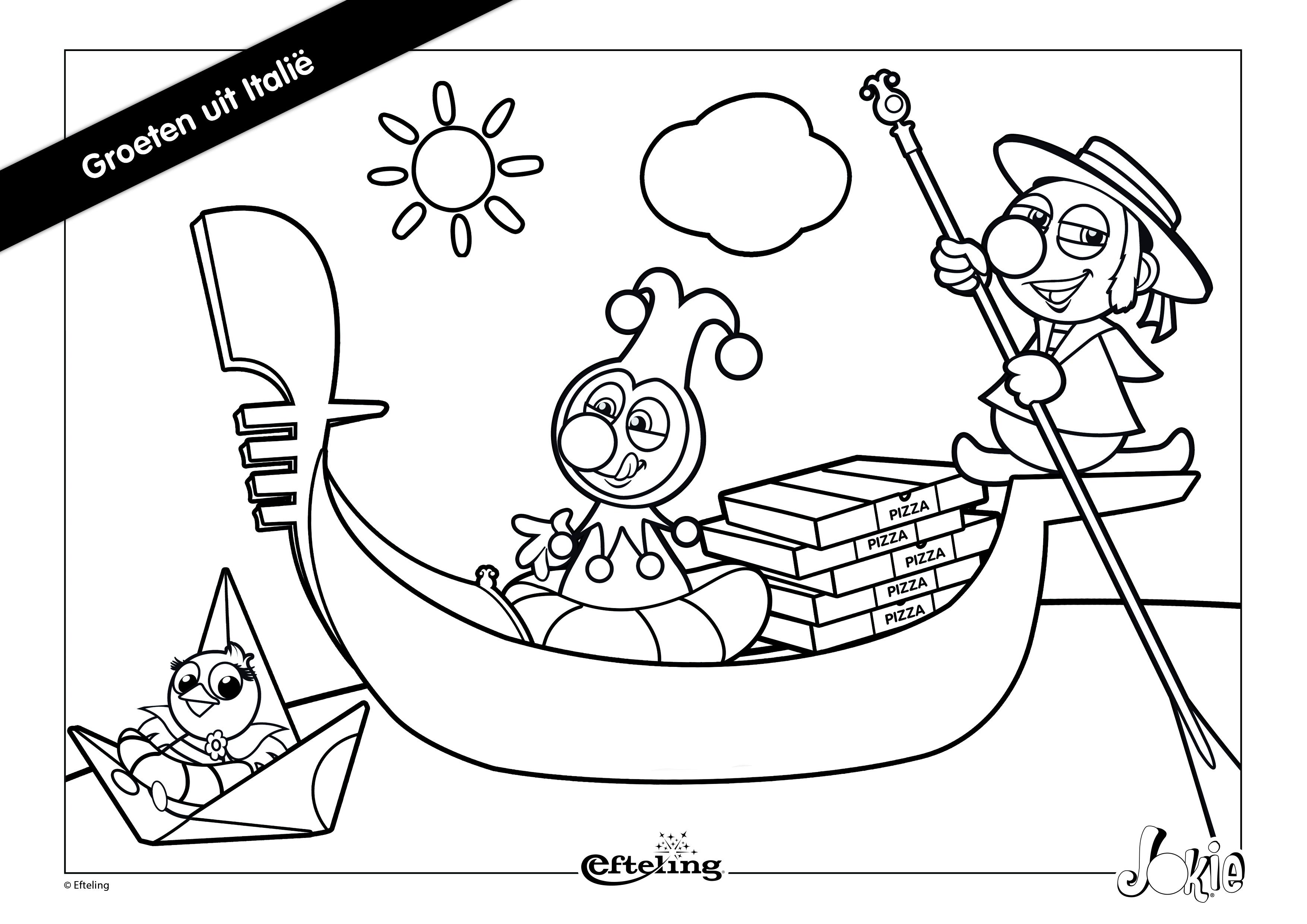 Efteling Jokie Kleurplaten 187 Animaatjes Nl