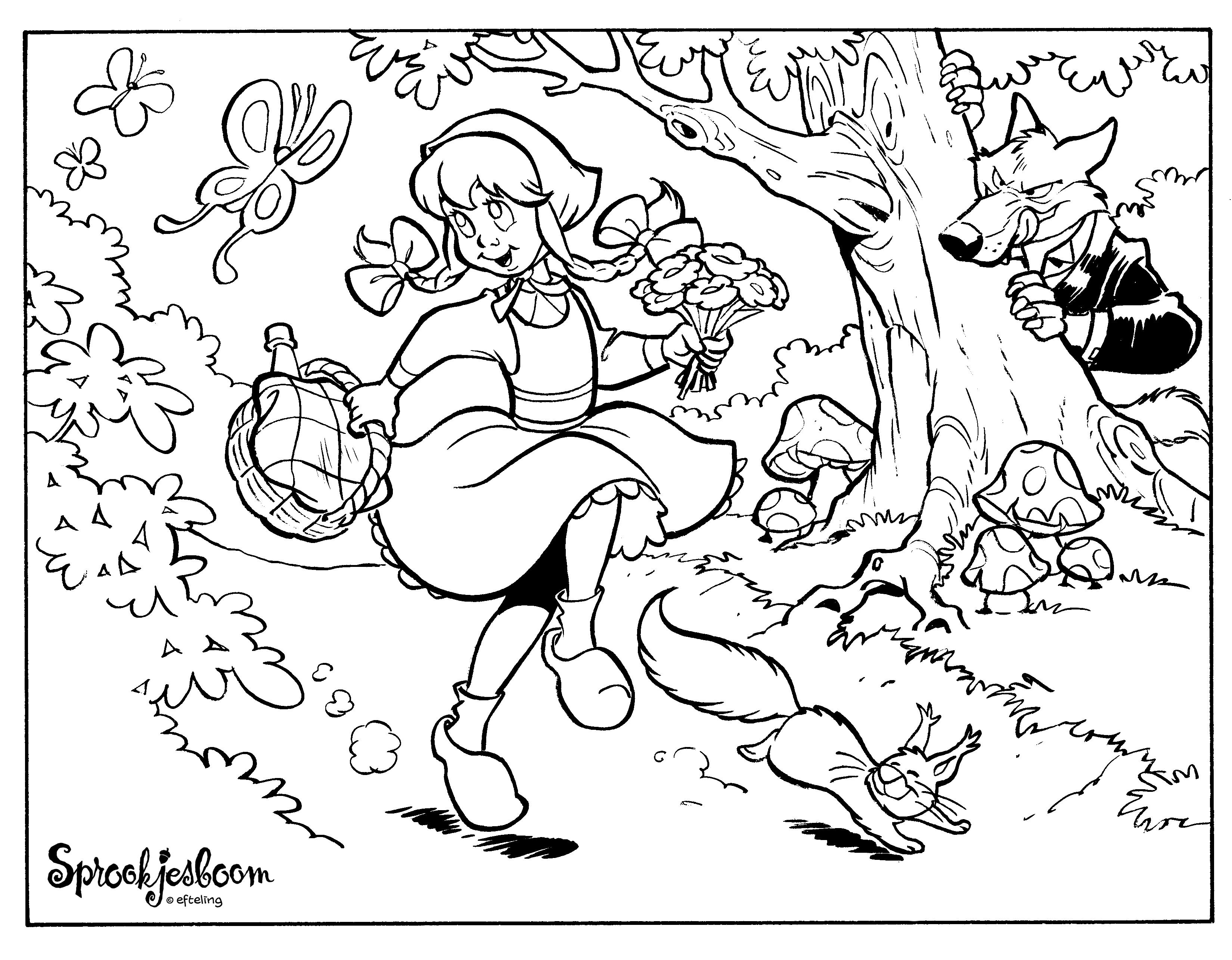 Volwassen Kleurplaten Herfst Kleurplaat Efteling 187 Animaatjes Nl