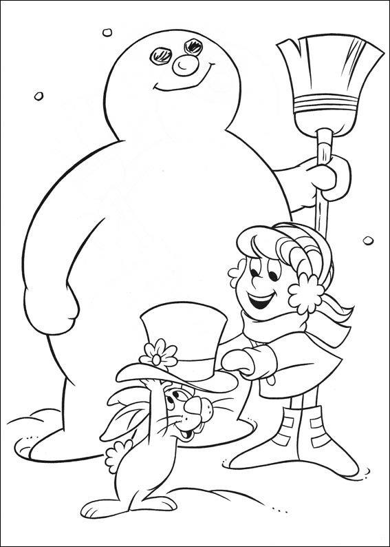 Kleurplaten Frosty de sneeuwpop