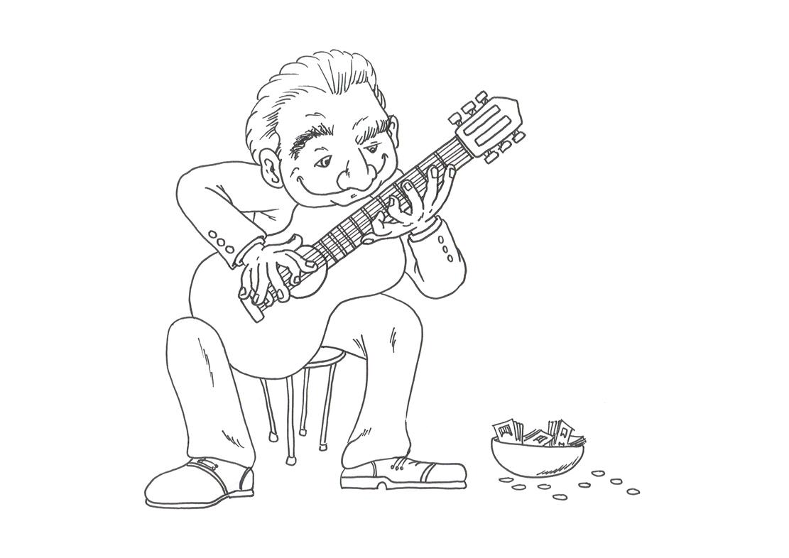 gitaar kleurplaat 187 animaatjes nl