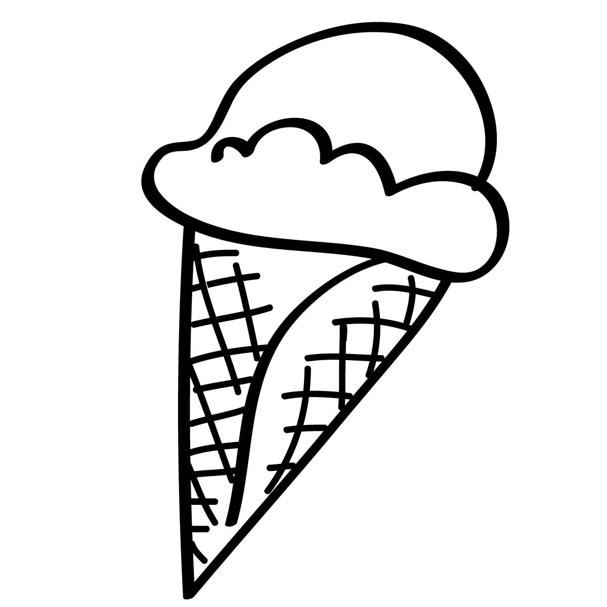 free black and white ice cream sundae clipart - photo #21