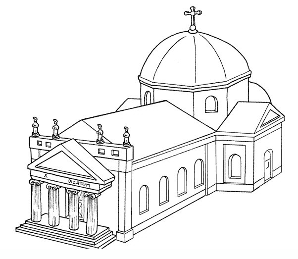 Kleurplaten Kerken