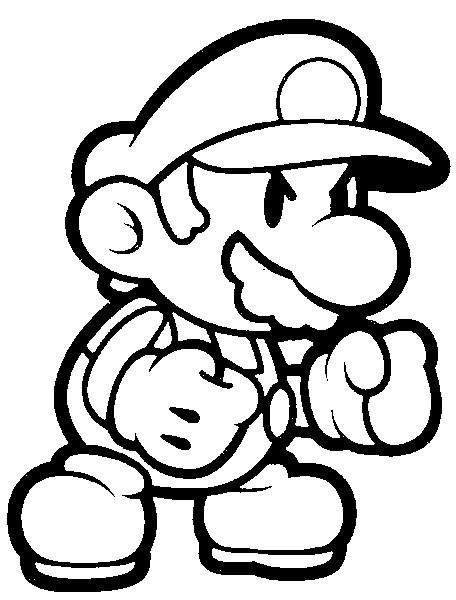 Mario Wii Kleurplaten.Mario Kleurplaten Animaatjes Nl