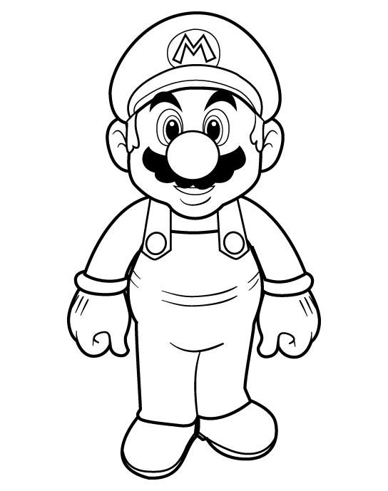 Leuke Kleurplaten Mario.Leuke Mario Kleurplaat Wielostditop Nl