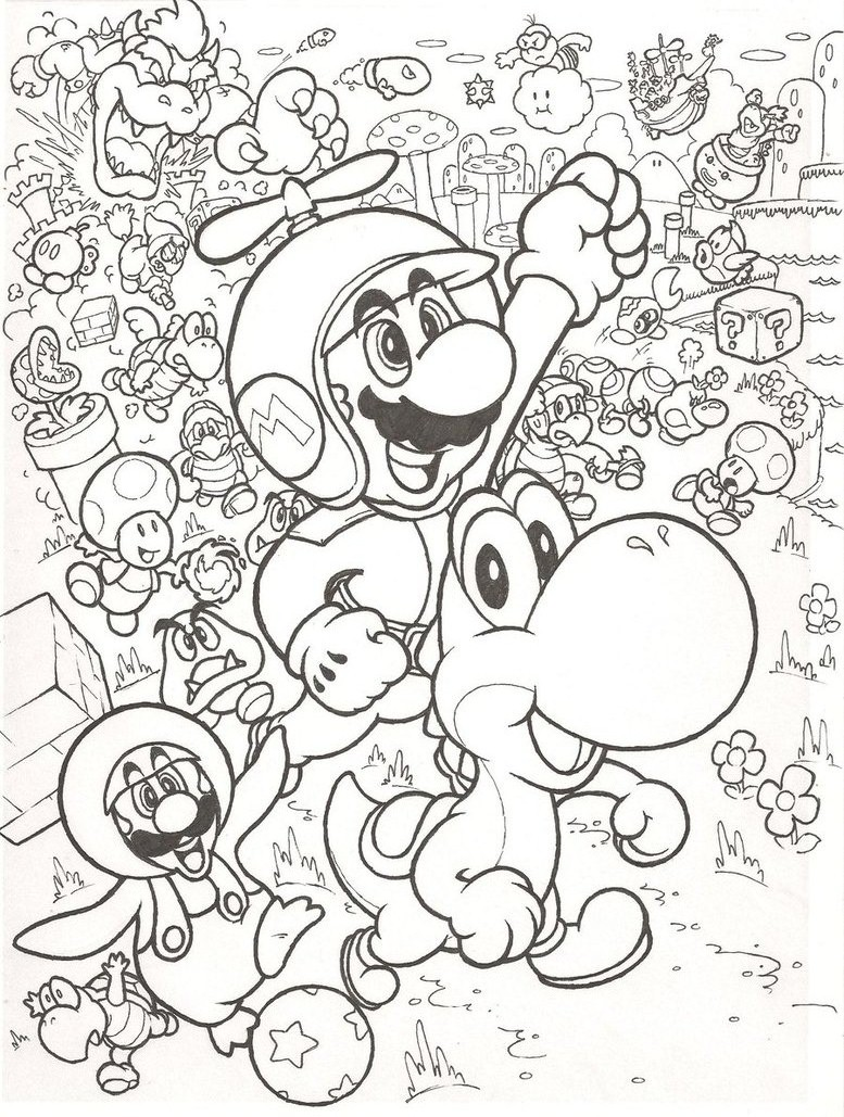 coloring pages nintendo characters - photo#38