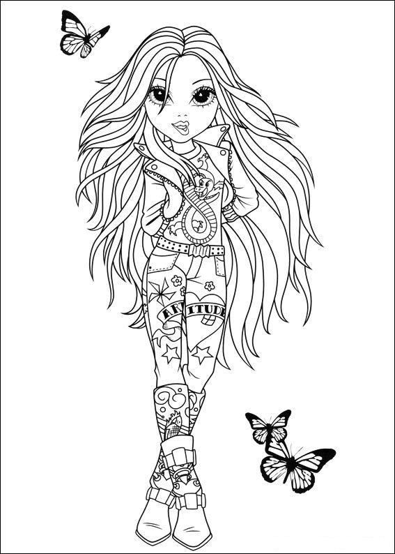Kleurplaat Moxie Girlz 187 Animaatjes Nl