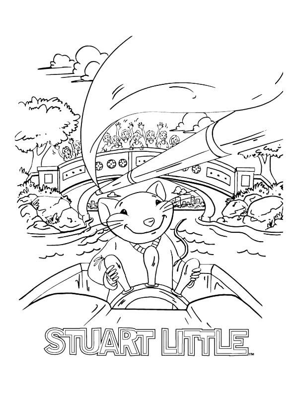 Kleurplaten Stuart little
