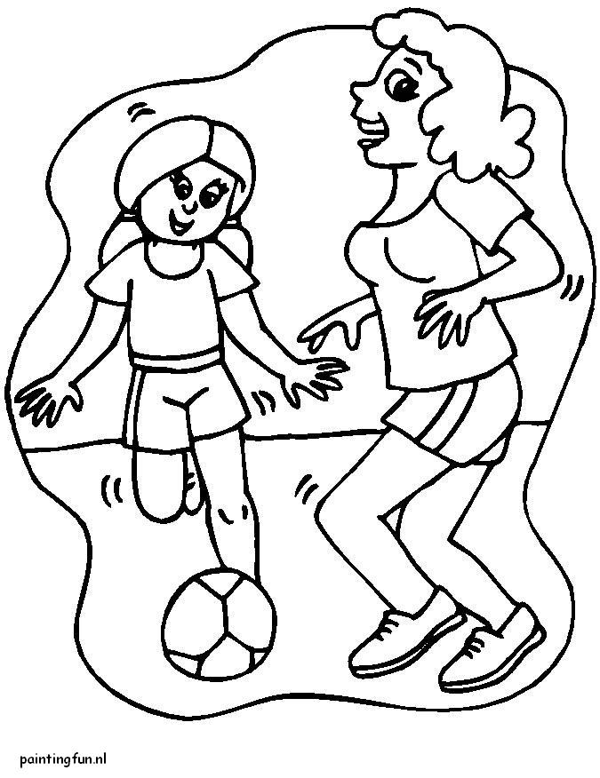 Quatang Gallery- Voetbal Kleurplaat Animaatjes Nl