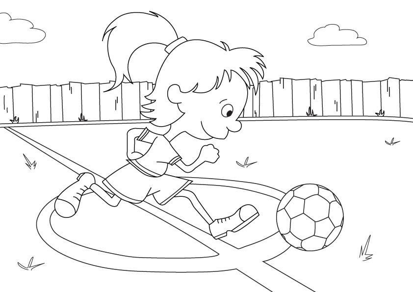 Kleurplaten Van Een Voetbal.Voetbal Kleurplaat Animaatjes Nl