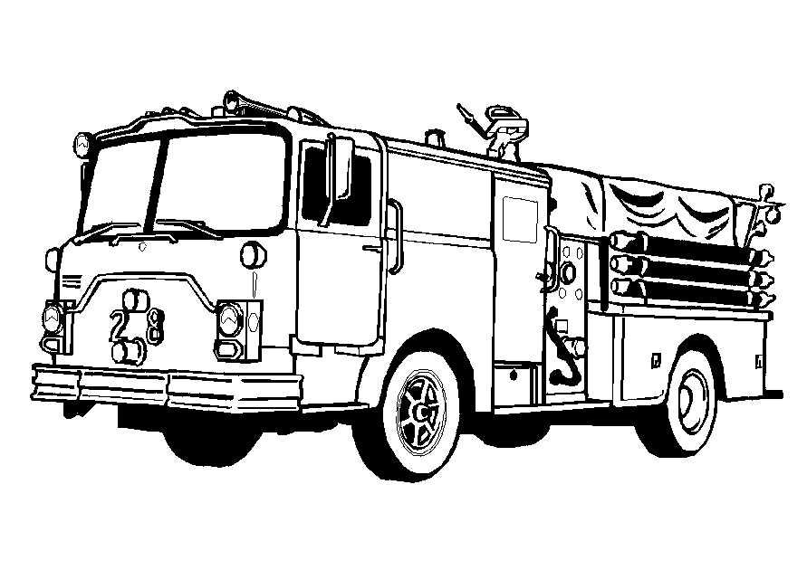 Kleurplaten Vrachtauto