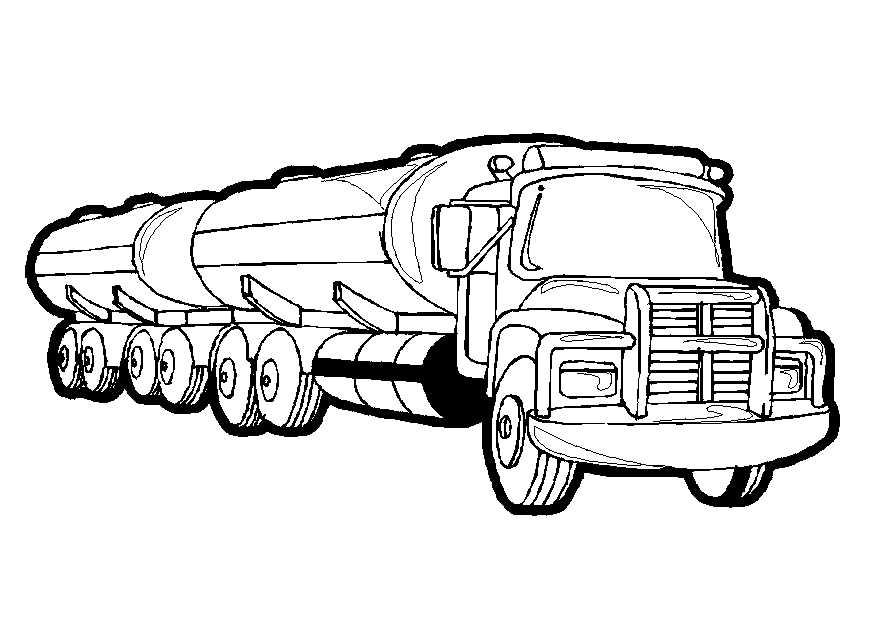 vrachtauto kleurplaten animaatjes nl
