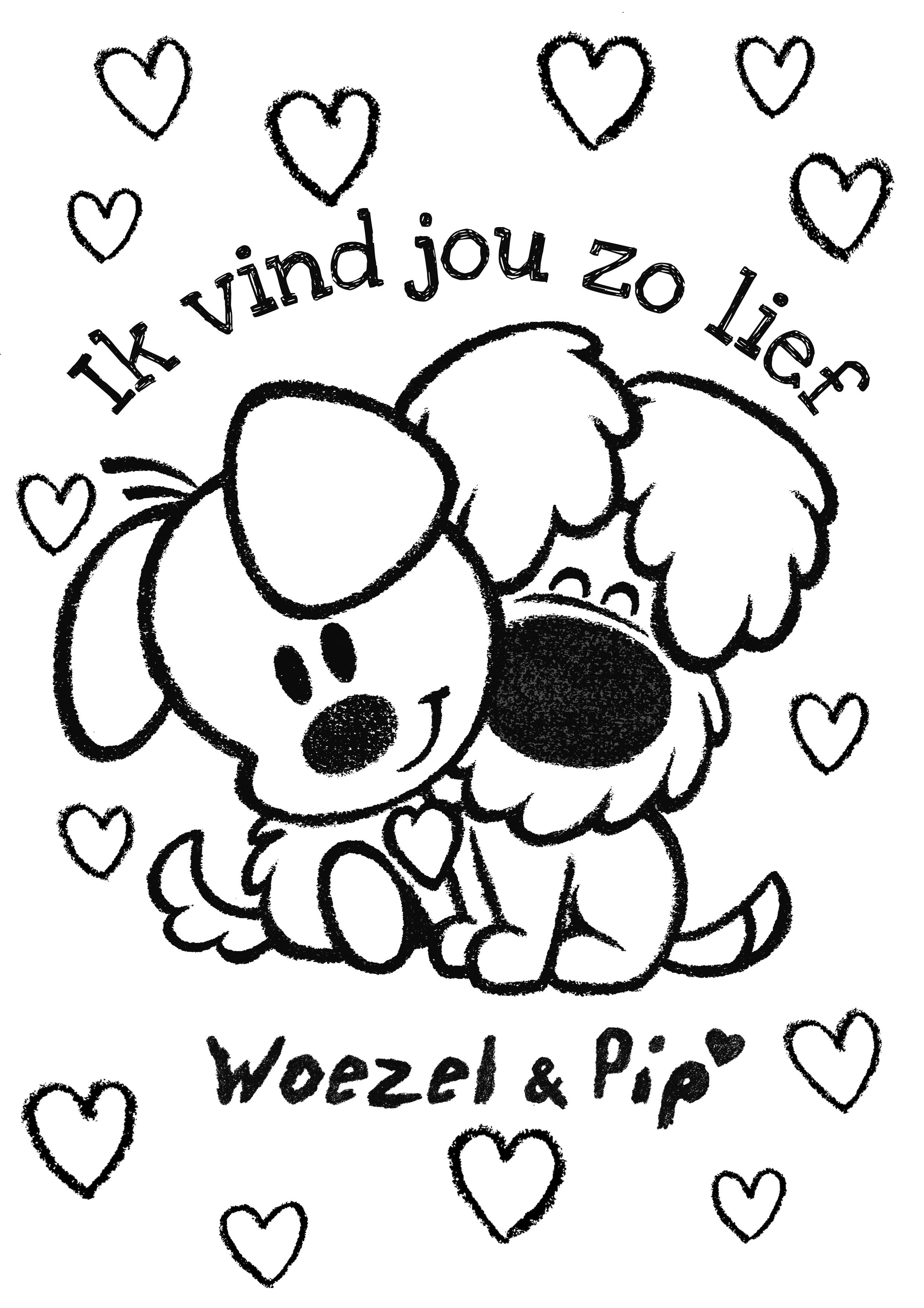 kleurplaat woezel en pip 187 animaatjes nl