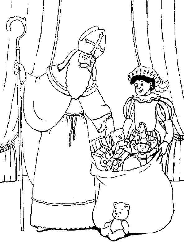 Kleurplaat Sinterklaas Kleurplaat Sinterklaas En Zwarte