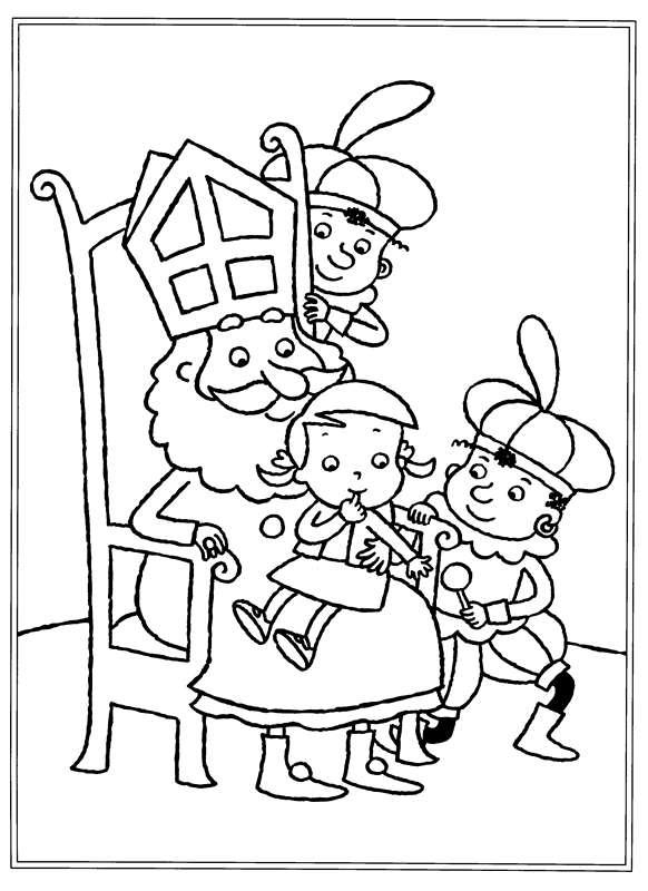 Kleurplaten Sinterklaas kleurplaten Sinterklaas kinder pieten