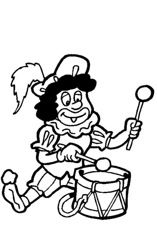 Dansende Zwarte Piet Kleurplaten.Kleurplaat Sinterklaas Kleurplaat Sinterklaas Kinder Pieten