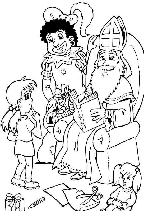 Kleurplaten Sinterklaas kleurplaten Sinterklaas op bezoek