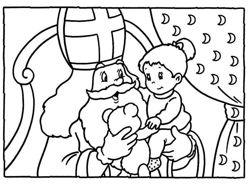 Kleurplaat Sinterklaas Kleurplaat Sinterklaas Op Bezoek
