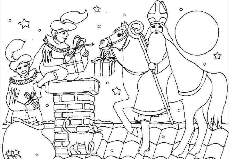 Kleurplaten Van Sinterklaas Printen.Sinterklaasjournaal Kleurplaat Printen Sinterklaas Overig