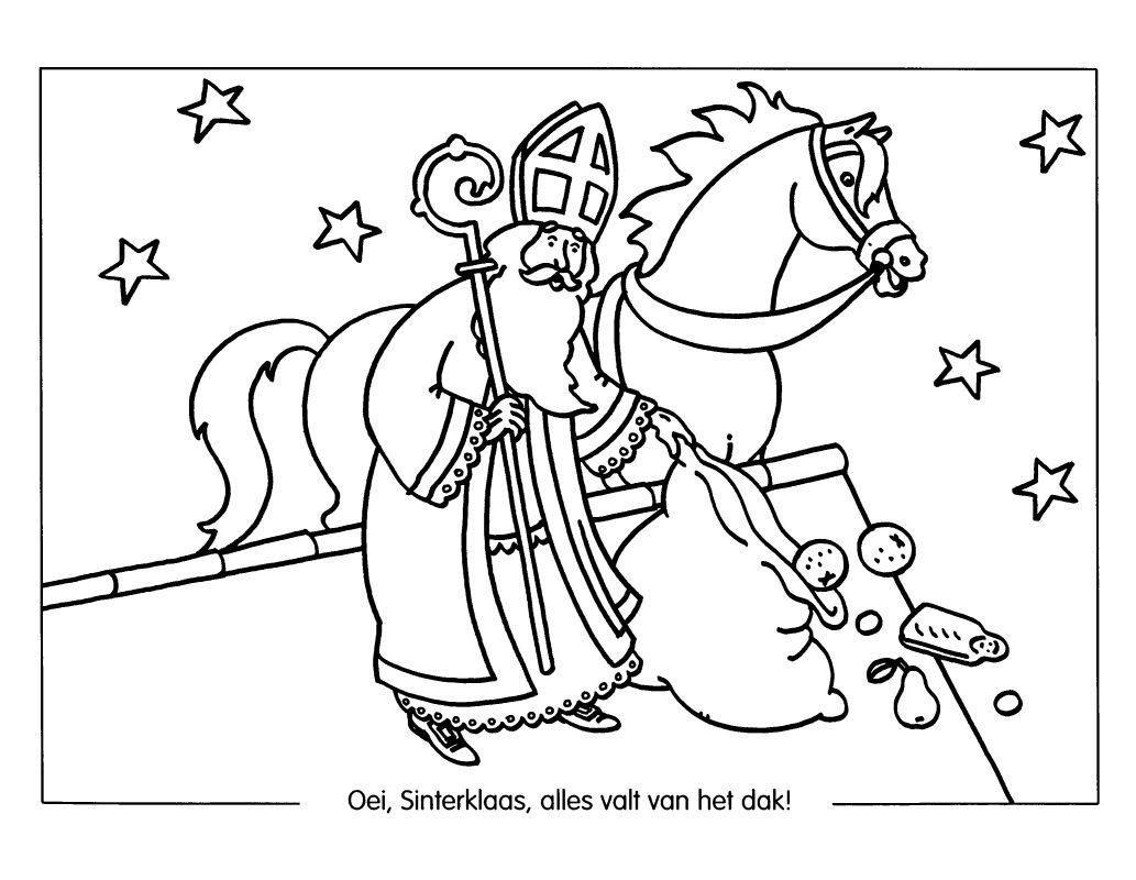 Sint Paard En Piet Kleurplaten Kleurplaat Sinterklaas Kleurplaat Sinterklaas Overig