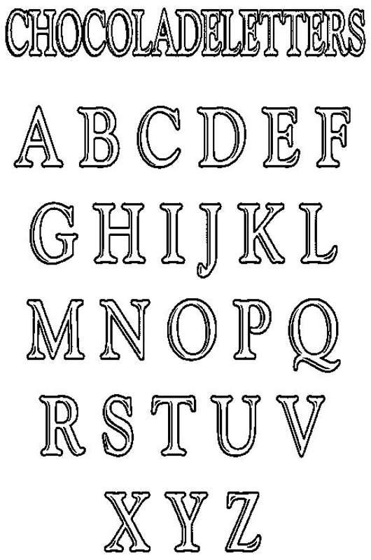 Kleurplaat Met Chocolade Letters Wielostditop Nl