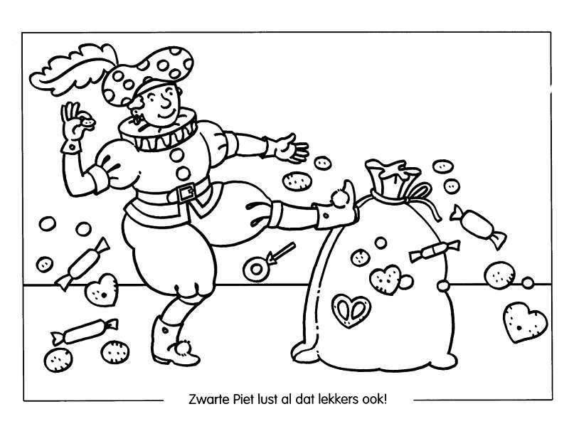 sinterklaas snoepgoed kleurplaten animaatjes nl