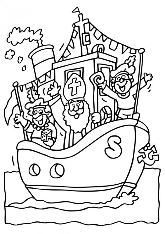 Pakjesboot Kleurplaat Kleurplaat Sinterklaas Kleurplaat Sinterklaas Stoomboot