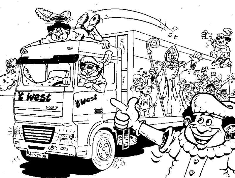 Zwarte Piet Kleurplaat Sinterklaas Kleurplaat 187 Animaatjes Nl