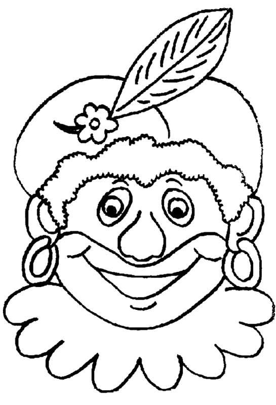 Kleurplaten Van Sinterklaas En De Pieten.Zwarte Piet Kleurplaat Sinterklaas Kleurplaat Animaatjes Nl