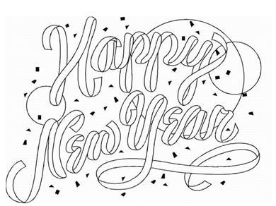 Speciale Dagen Nieuwjaar Kleurplaat Animaatjes Nl