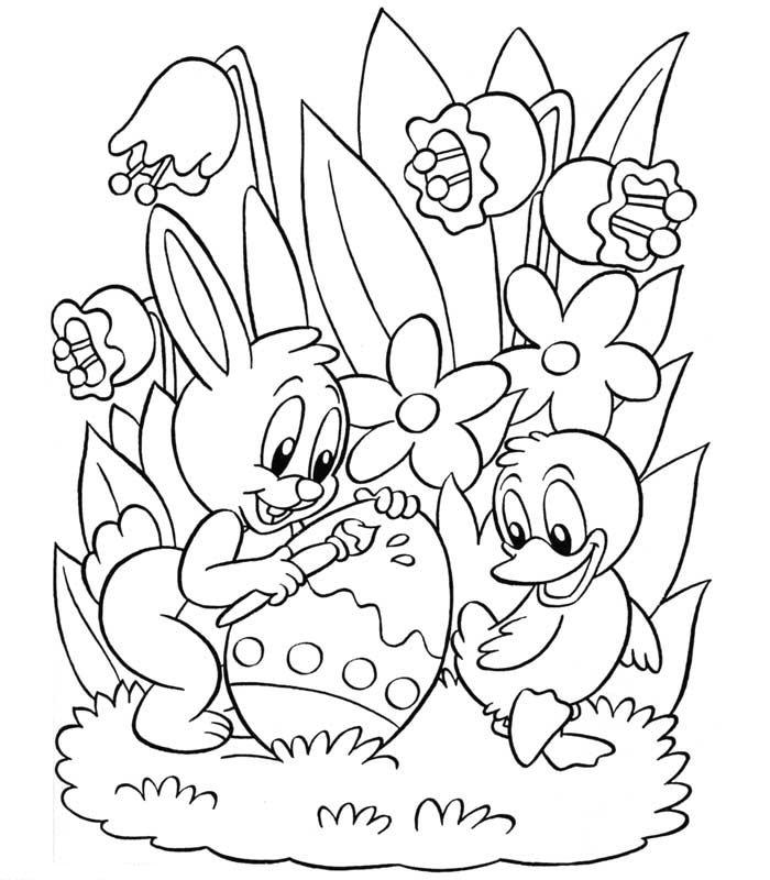 Kleurplaten Pasen Disney.Speciale Dagen Pasen Kleurplaat Animaatjes Nl