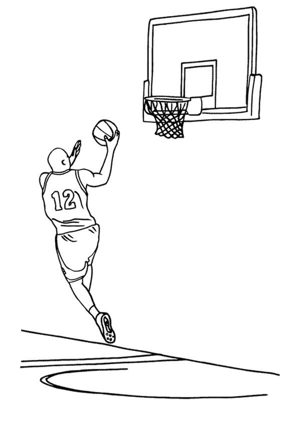 Basketbal Kleurplaten Sport kleurplaten