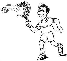 kleurplaat animaatjes tennis 26916