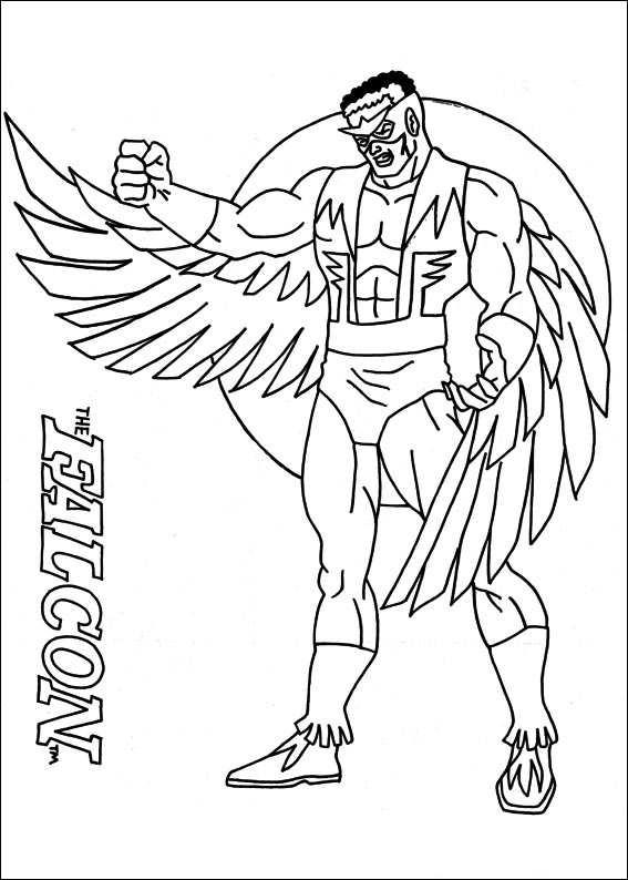 Kleurplaten Superhelden kleurplaten captain america