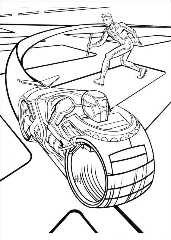 Kleurplaten Superhelden kleurplaten Tron