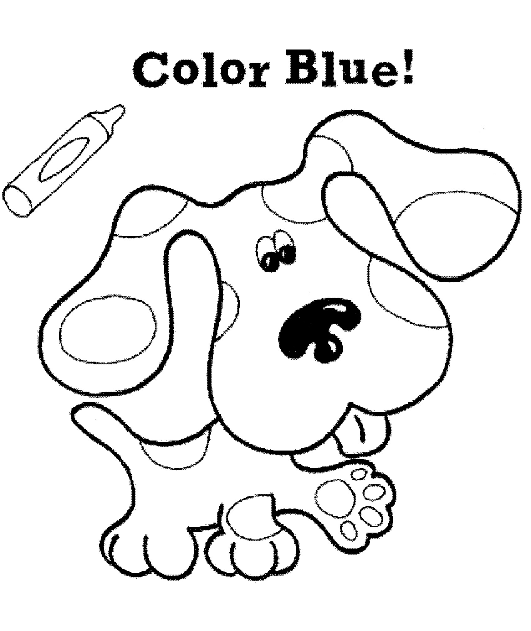 Blues Clues | Blues clues, Cool coloring pages, Coloring ...