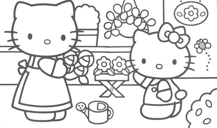 Hello Kitty Kleurplaat Tv Series