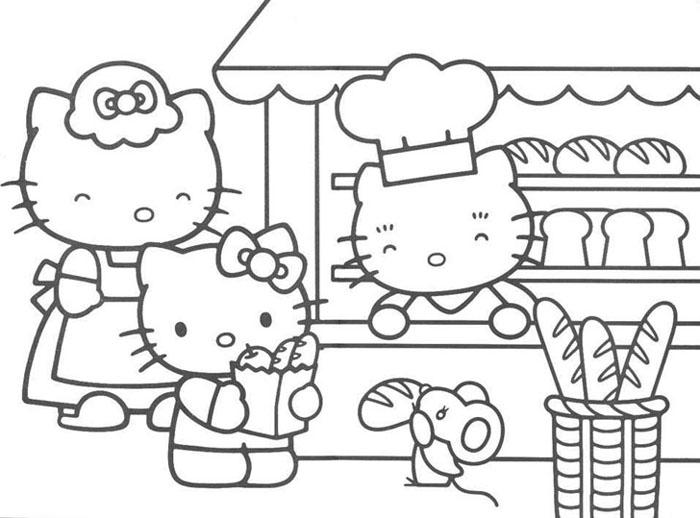 Kleurplaten Afdrukken Hello Kitty.Hello Kitty Kleurplaat Tv Series Kleurplaat Animaatjes Nl