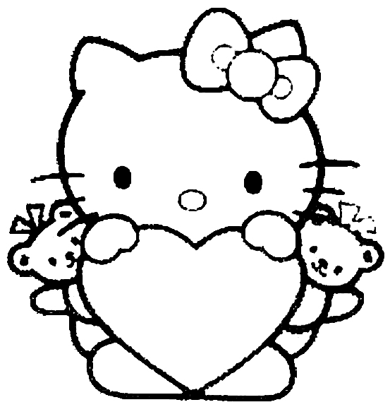 Hello kitty kleurplaten
