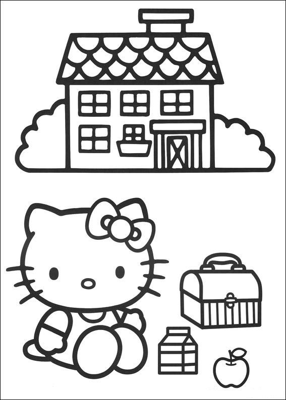 hello kit coloring pages - photo#29
