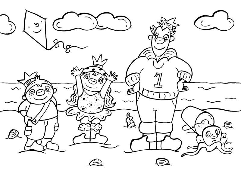het zandkasteel kleurplaten 187 animaatjes nl