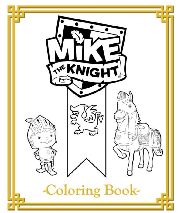Kleurplaten Tv series kleurplaten mike the knight