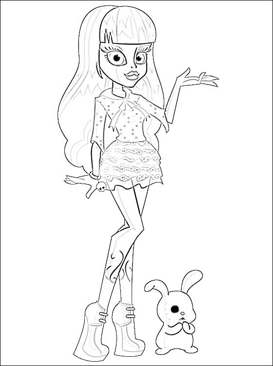 Kleurplaat Tv Series Kleurplaat Monster High Animaatjes Nl