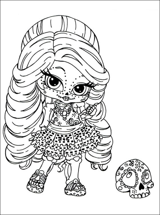 small monster high coloring pages - photo#2