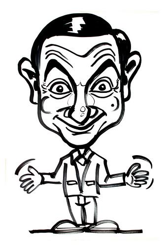 Kleurplaten Mr Bean Tv series kleurplaten